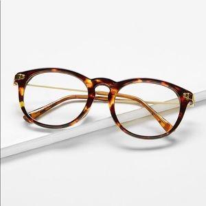 Leopard Frame Retro Glasses | Clear Lenses
